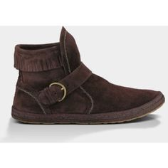 Ugg Australia - Amely Genuine Sheepskin Bootie Color: Stout. Never worn! Suede. UGG Shoes Ankle Boots & Booties