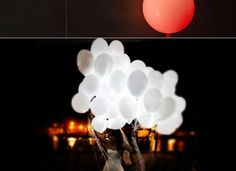 10pcs LED Light-up Balloons Luminous Balloon LED Flashing Inflatable Balloon Lamp for Wedding Party Holiday Decor HHI-469167