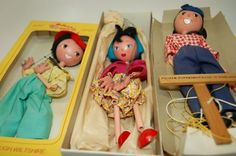 Pelham Wooden Puppet Family, made in England
