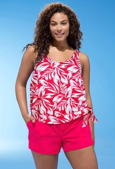 Discover the Beach Belle Tahiti Blouson Cargo Shortini. Explore items related to the Beach Belle Tahiti Blouson Cargo Shortini. Organize & share your favorite things (including wish lists) with friends. Plus Size Tankini, Plus Size Swimsuits, Cute Swimsuits, Tankini Top, Trendy Plus Size Clothing, Plus Size Outfits, Plus Size Fashion, Curvy Fashion, Xl Mode