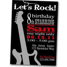 Rock+and+Roll+Birthday+Invitation++Digital+by+SprinkledDesigns,+$10.00