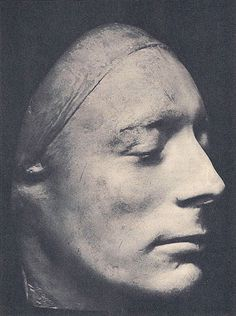 Life Mask of John Keats, (made by his friend, Benjamin Robert Haydon) December 1816. Keats first met Haydon on October 31, 1816 (which happened to be the poet's birthday). Shortly after he created this life mask, leaving us a near photographic image of Keats.