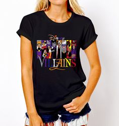 New Popular Disney Villains Princess Character T-Shirt Tee Women S-XL #Gildan #GraphicTee #Everyday