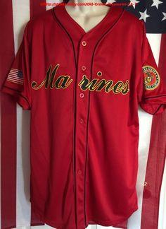 U s Marines Baseball Jersey Style Shirt Large NWT Semperfi Fi | eBay