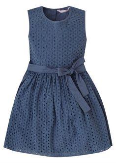 Girls Broderie Anglais Dress