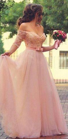 Off the Shoulder A-line Long Prom Dress Wedding Bridal Dress Formal Dress Dance Dress PDS0491