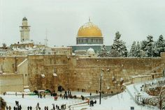Jerusalem covered in snow