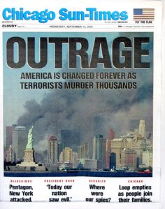 394319 03: The front page of the Chicago Sun-Times with a headline that reads…