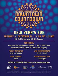 Fort Lauderdale Orange Bowl New Year's Eve