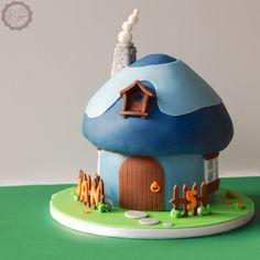 MakeUrCake - Smurfs House Cake