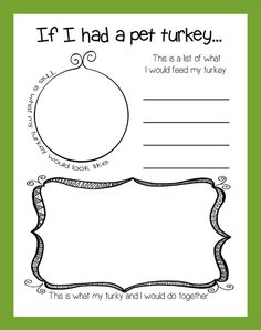 If I Had A Pet Turkey Thanksgiving Activity Bulletin Board Idea for preschool kindergarten and elementary grades Thanksgiving Writing, Thanksgiving Preschool, Thanksgiving Ideas, Thanksgiving Bulletin Boards, November Bulletin Boards, Holiday Writing, Hosting Thanksgiving, Thanksgiving Appetizers, Thanksgiving Outfit