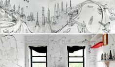 Paredes dibujadas   Drawn walls