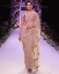 Champagne Gold Sari