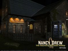 Wallpaper of outside the Inn from Nancy Drew: The Haunting of Castle Malloy