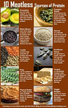 10 Meatless Sources of Proteins (infographic)