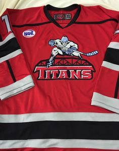 871b61ad0 New Jersey Titans custom game jerseys. Sportswear is a proud partner of the  NAHL.