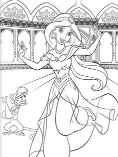 Coloring Pages Colouring Aladdin Printable Books Sheets