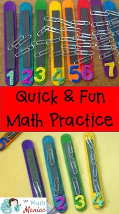fun DIY way to make math fun for kids! Great for parents and teachers! Makes an excellent math busy bag!A fun DIY way to make math fun for kids! Great for parents and teachers! Makes an excellent math busy bag! Math For Kids, Fun Math, Math Games, Preschool Activities, Montessori Preschool, Montessori Elementary, Elementary Teaching, Math Math, Visual Motor Activities