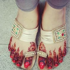 Henna and ethnic chappals