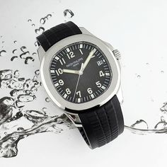 Admiring The #Aquanaut  When #PatekPhilippe do a sports watch, you know it will be the upper echelon of luxury sports wear. The tropical composite strap and clean cut case work in perfect harmony to deliver a comfortable yet classic #timepiece.  Currently there is a 5 year waiting list at Patek Philippe for this watch, but we have one in stock with box and papers!!