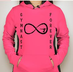 I also made this gymnast sweatshirt on CustomInk.com!