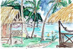 Thailand - Koi Pha Ngan 1993 Watercolour #PieterCronjeArt #Thailand Koi, Watercolour, Thailand, Faces, Painting, Pen And Wash, Watercolor Painting, Watercolor, Painting Art