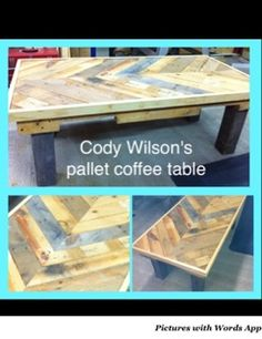 My son's pallet coffee table inspired by a video on YouTube posted by beachbumlivin! I think it turned out great!