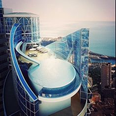 """The Odeon Tower, in Monaco, by Alexandre Giraldi 