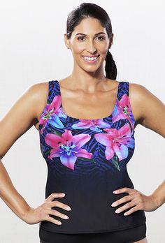 Look at this Aquabelle Purple Sugarlily Tankini Top - Women & Plus on today! Chlorine Resistant Swimwear, Plus Size Clothing Stores, Swimsuits For All, Swim Dress, Tankini Top, Latest Fashion Trends, Plus Size Outfits, One Piece, Trending Outfits