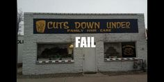 funny business names Business Signs, Business Names, Epic Fail Photos, Daniel Tosh, Funny Signs, Latest Video, Just For Laughs, Comedians, Fails