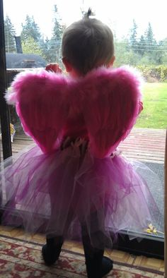 My angel g-baby in her wings and tutu I made for her.