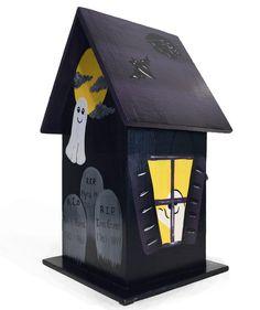 Halloween Decorative Birdhouse Hand by PaintBrushedBoutique