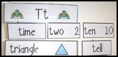 Are those number words tripping up your students?  Add the number words – with corresponding numerals to your word wall and let your students start to build fluency with these words.
