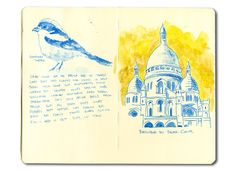 Sacre Couer in Paris, and some sketch notes.