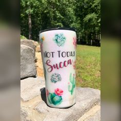 I Cup, Tumbler Cups, Treat Yourself, Tumblers, Favorite Quotes, Dreaming Of You, Cactus, Succulents, Monogram