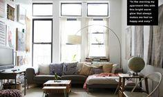 Rueマガジンの、NY小さい家特集(3)アーティスト・キャロラインのアパート | 海外インテリアブログ紹介