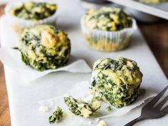Herzhafte Spinat-Feta-Muffins