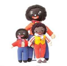 Not politically correct now, but i loved my golly, i own a small modern one bought before the last uproar about them being sold in the queen's giftshop,     Dean's Childsplay Toys Golly, British, 1970S