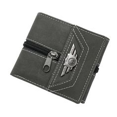 Men Fashion Designer Small Short Purse Wallet Card Holder Army Green Casual Slim Leather Wallets Coin Purses Male carteira