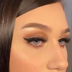 Smoke Eye Makeup, Eyebrow Makeup Tips, Makeup Videos, Glam Makeup, Dress Makeup, Beauty Makeup, Hair Makeup, How To Make Hair, Eye Make Up