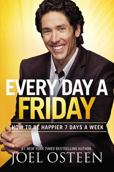Inspired me in every chapter. I got to learn new things and ways on how to go about various life challenges. God bless you Joel Osteen. I kid you not anyone who reads this book shall truly live everyday as a Friday. Everything about you will change to be positive
