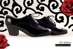 https://www.tamaraflamenco.com/es/zapatos-de-flamenco-profesionales-4 Zapato profesional de flamenco Begoña Cervera Modelo Blucher charol negro