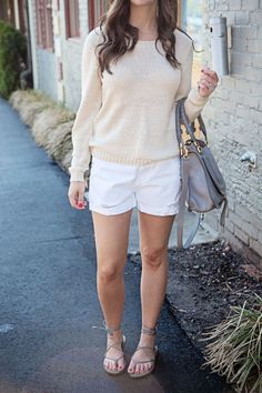 jillgg's good life (for less) | a west michigan style blog: my everyday style: white shorts!