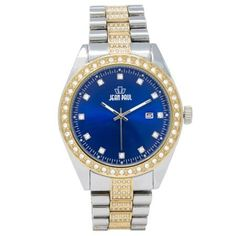 Jean Paul 52mm Oversized Gold and Silver, Diamond Ice Men's Watch