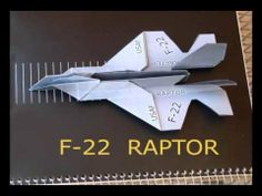 How to make an F-22 Paper Airplane