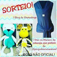 Sorteio : 1 sling azul marinho dry fit da @tataslings e 1 Urso ou 1 macaco da @pingodeacucarstore na estampa que preferir! . Gostou quer participar??? . . Regras para participar : >Curta a Foto Oficial no ig @blogsamanthacoelho . >Indique 3 amigos nos comentários da foto oficial ( não vale igs de: famosos fakes e lojas) >E siga os igs :  @blogsamanthacoelho @tataslings @pingodeacucarstore . @minhadoceanaluisa . @_vaalentinaworld . @_missbabyvalentina . O sorteio será realizado no dia…