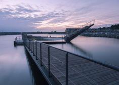Floating recreation area brings harbour swimming to a Danish island.