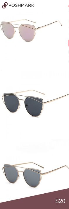 🌟NEW ITEM🌟 mirrored aviator sunglasses Mirrored aviator sunglasses available in two different colors. Buy 2 pair and get the 2nd one half off. Accessories Glasses