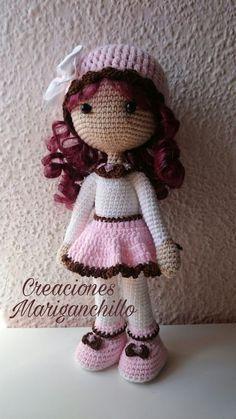Como hacer una muñeca amigurumi pequeña