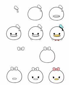 Easy Doodles Drawings, Easy Doodle Art, Doodle Art Designs, Cute Easy Drawings, Mini Drawings, Simple Doodles, Cute Disney Drawings, Cute Cartoon Drawings, Kawaii Drawings